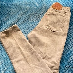 Vtg USA Levis 26501 Button Fly Jeans